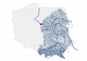 Dorzecze Wisły odcięte od Bałtyku przez zaporę we Włocławku